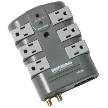 MinutemanаЂаŽ MMS760RCT SURGE PROTECTOR 6-Rotating Outlet with coax and phone line protection - PAM Distributing Co