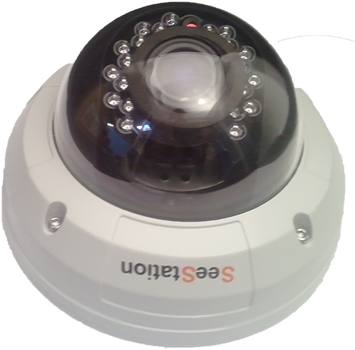 SeeStation C2429AV8 Dome Camera Vandal Resistant 1000TVL 2.8-12mm Varifocal Lens - PAM Distributing Co
