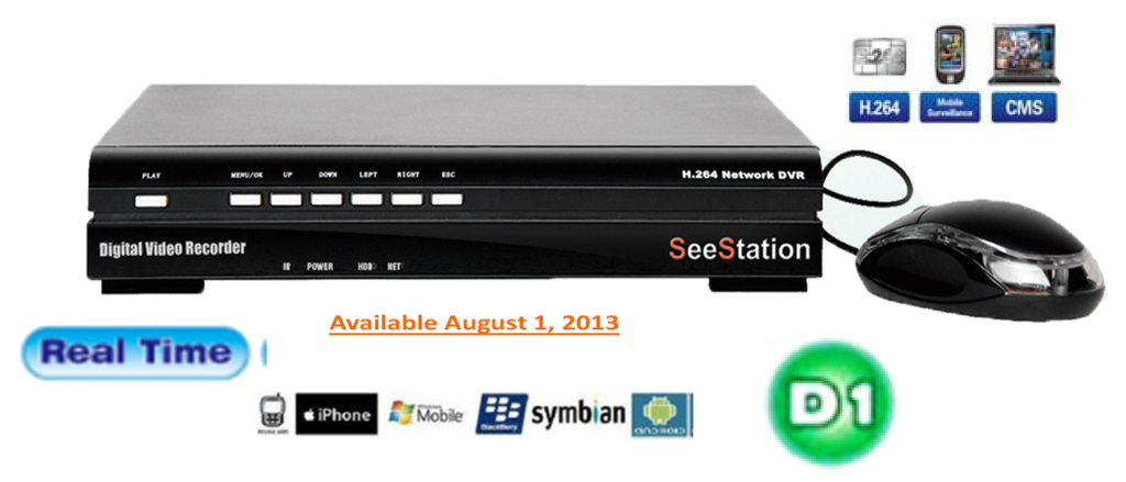 SeeStation DVR 4 Ch Full D1 All Real Time - PAM Distributing Co