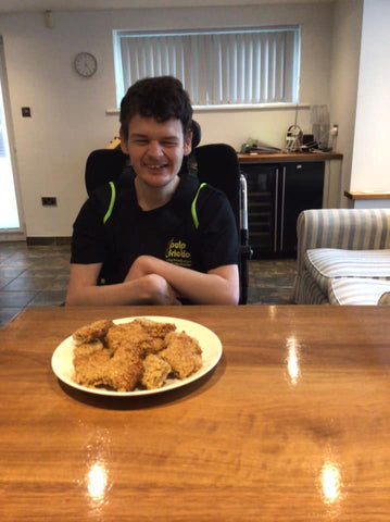 James at Pulp Friction with Flap Jacks