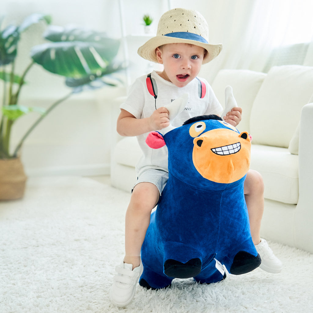 Bouncy Pals Bull Hopping Horse Inflatable Animal Ride on Toy