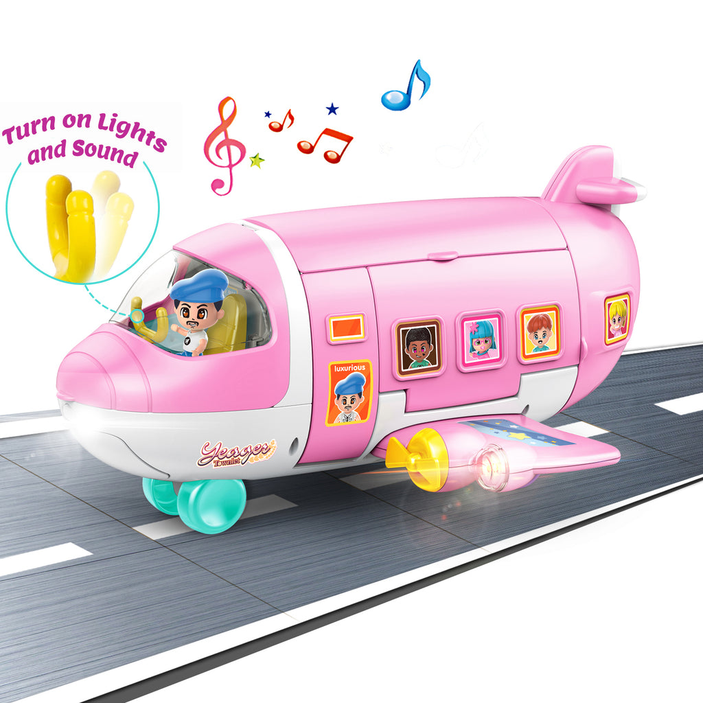 Kids Doll Dream Airplane Trasforming Playset Toy Gift