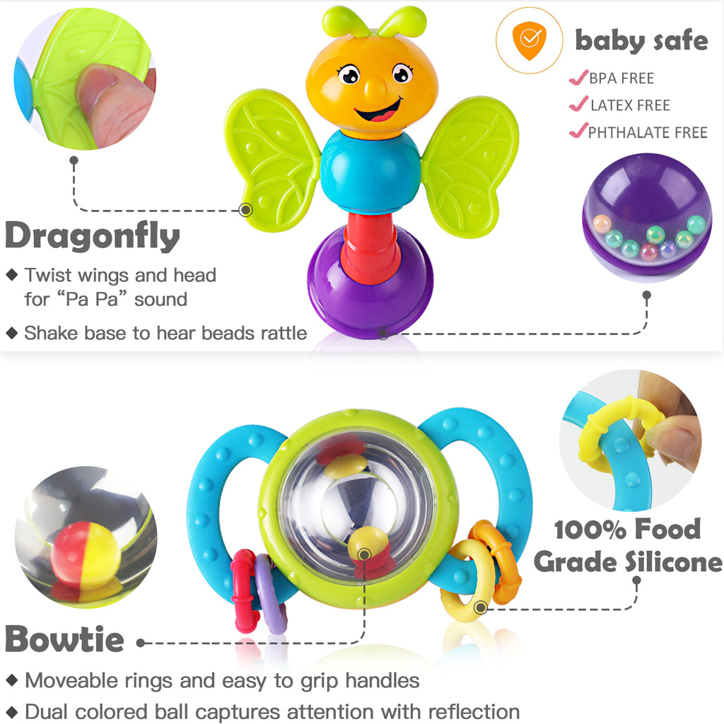 10pcs Baby Rattle Toys Early Educational Toys