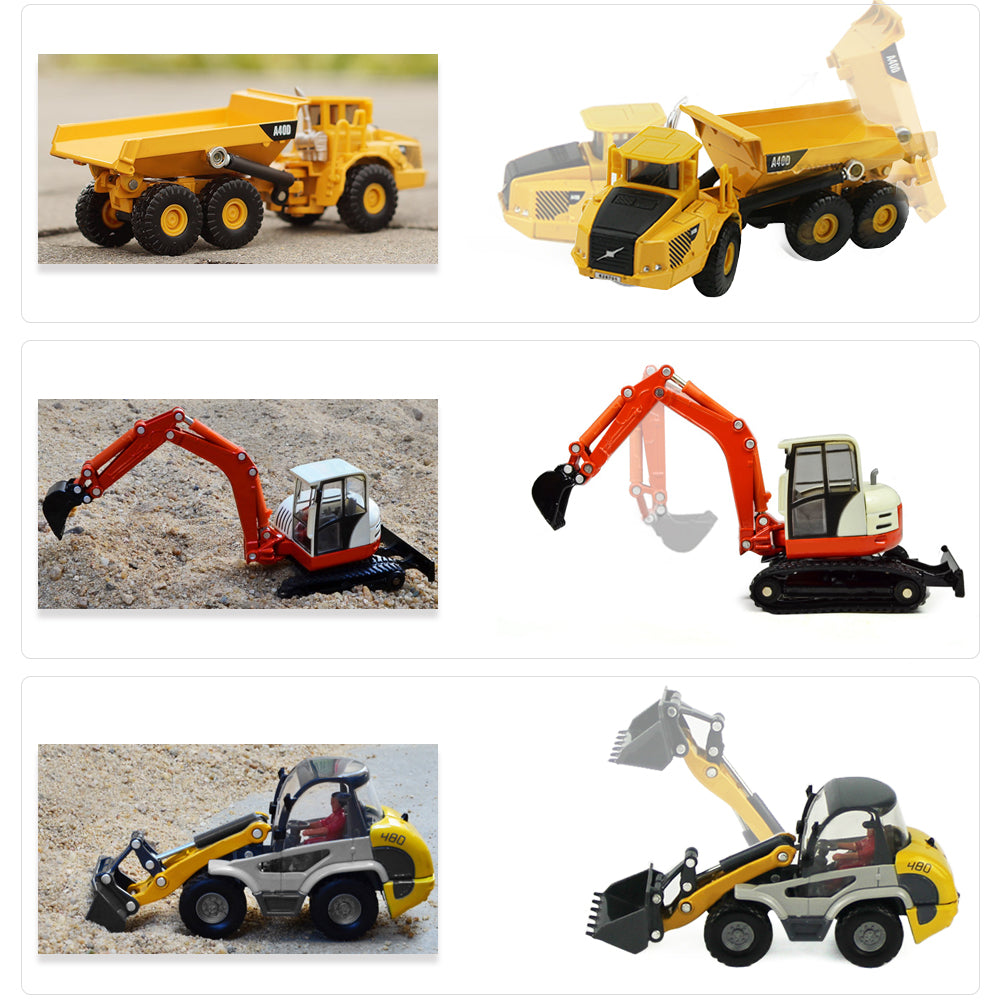 Heavy Duty Construction Site Playset Metal Tractor Toy