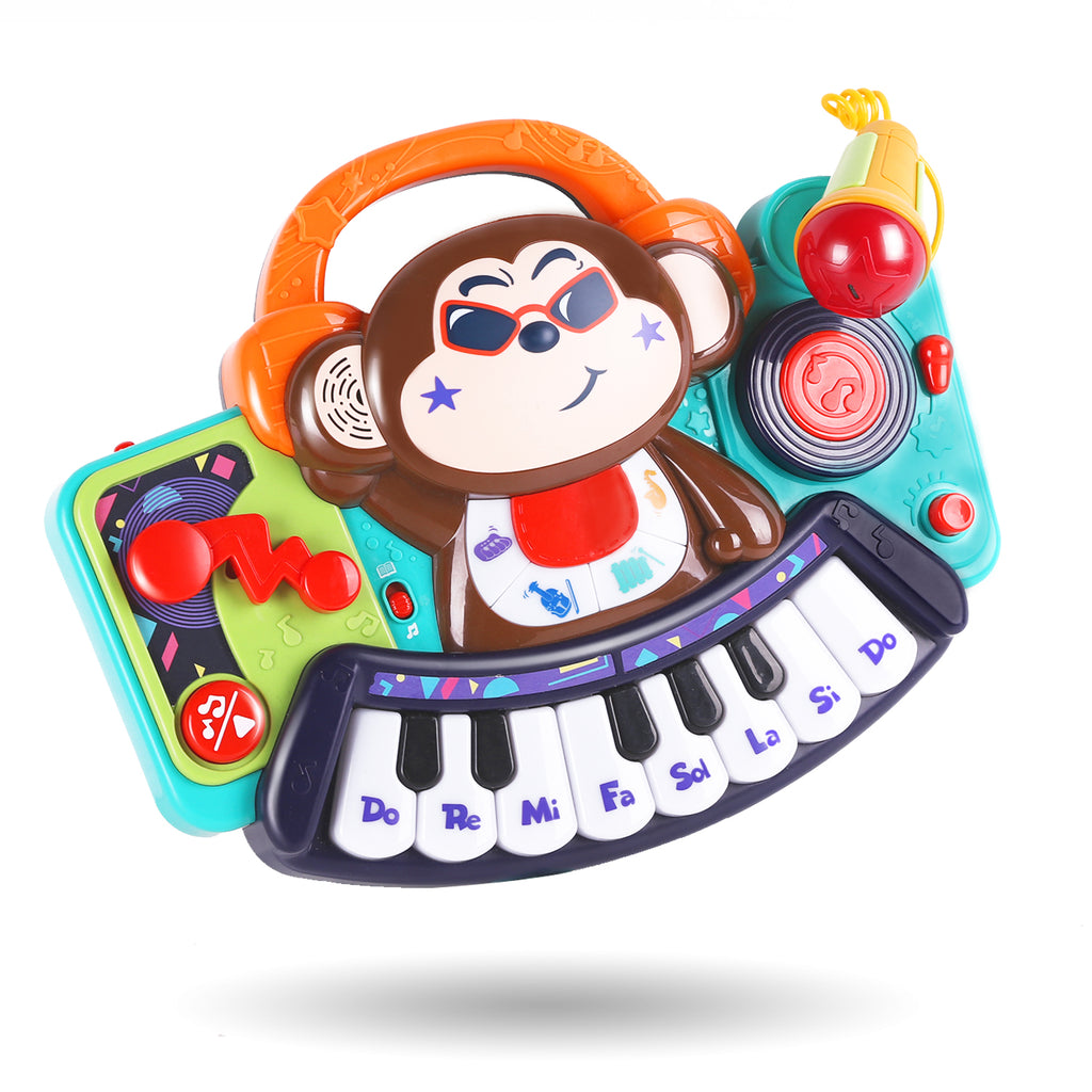 Toddler Kids Electronic Musical Monkey Piano Keyboard Toys