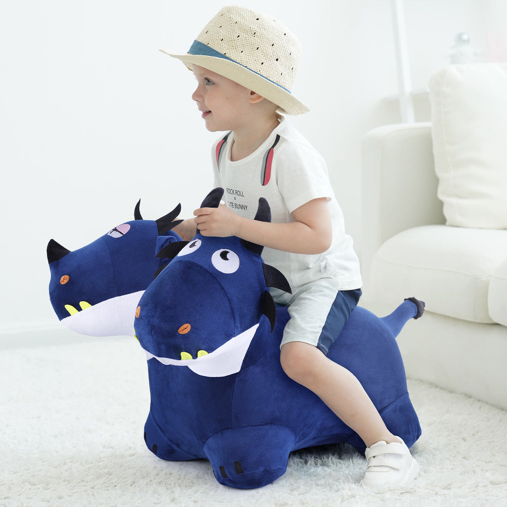 Bouncy Pals Blue Hopping Dragon Bouncy Horse Hopper Toy