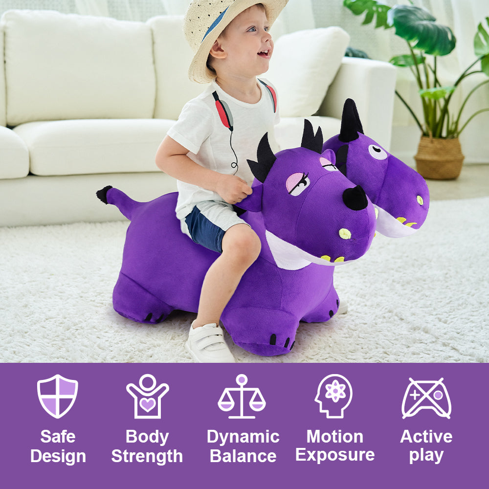 Bouncy Pals Two-Headed Inflatable Hopping Dragon Toys