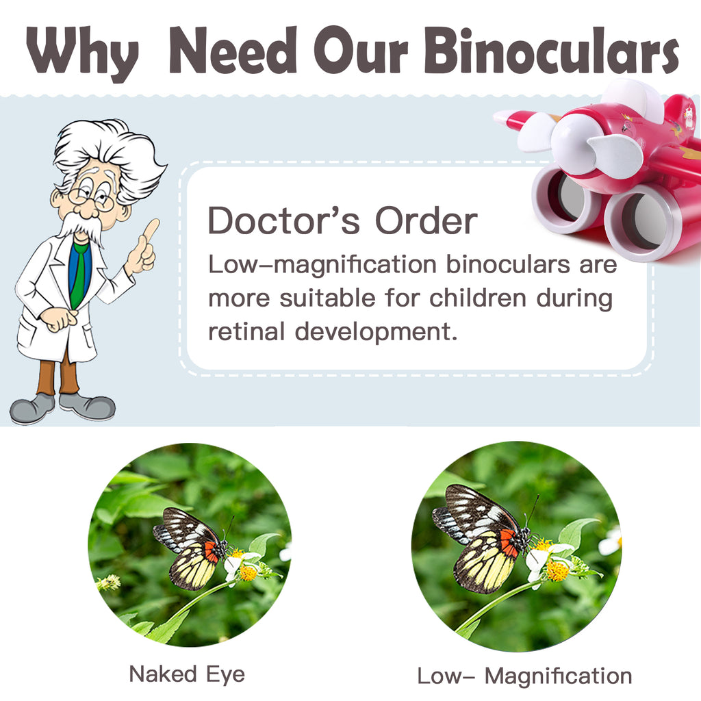 Airplane Pink Binoculars & Fan Nature Explore Toy