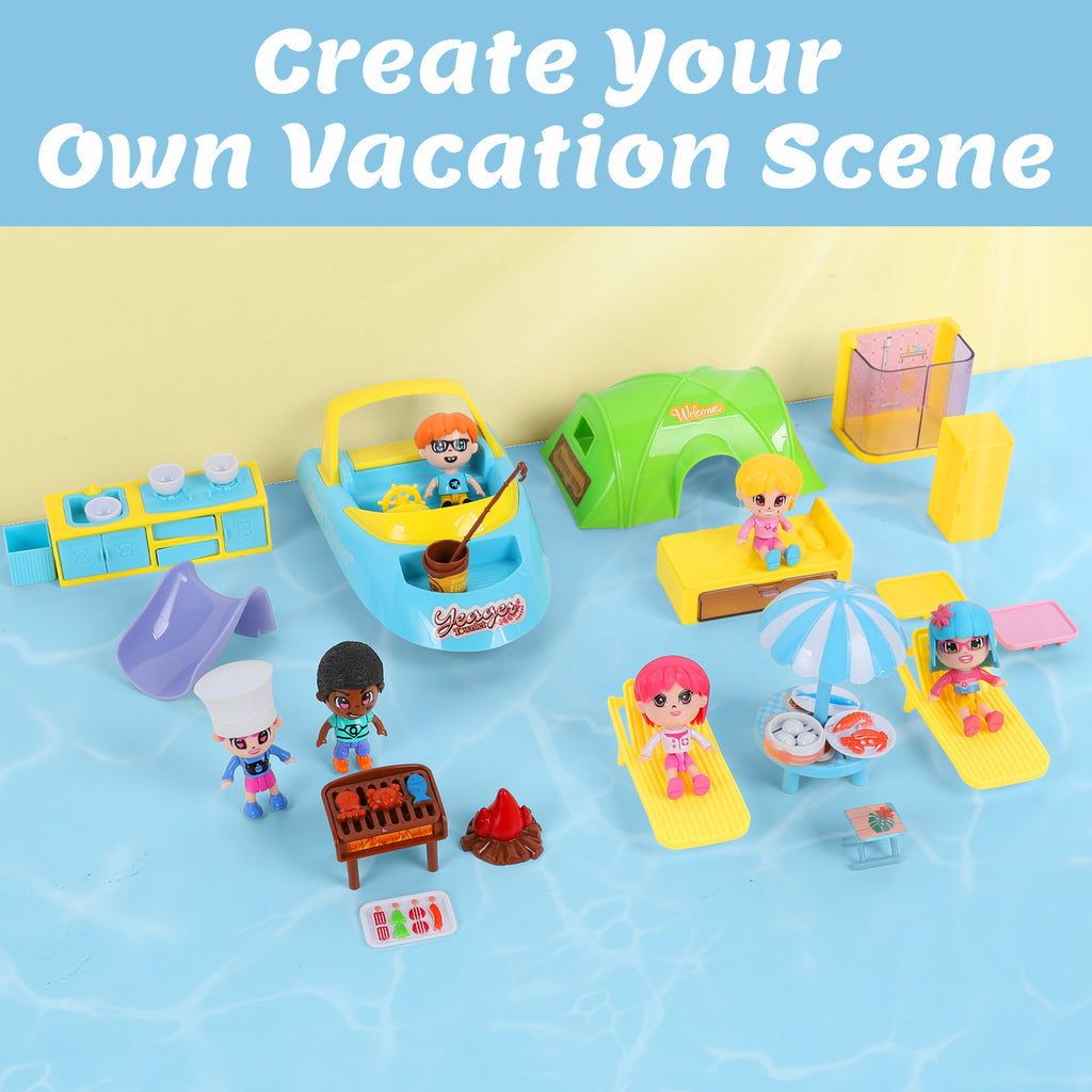 Cruise Ship Dollhouse Pretend Play Toys Yacht Playset