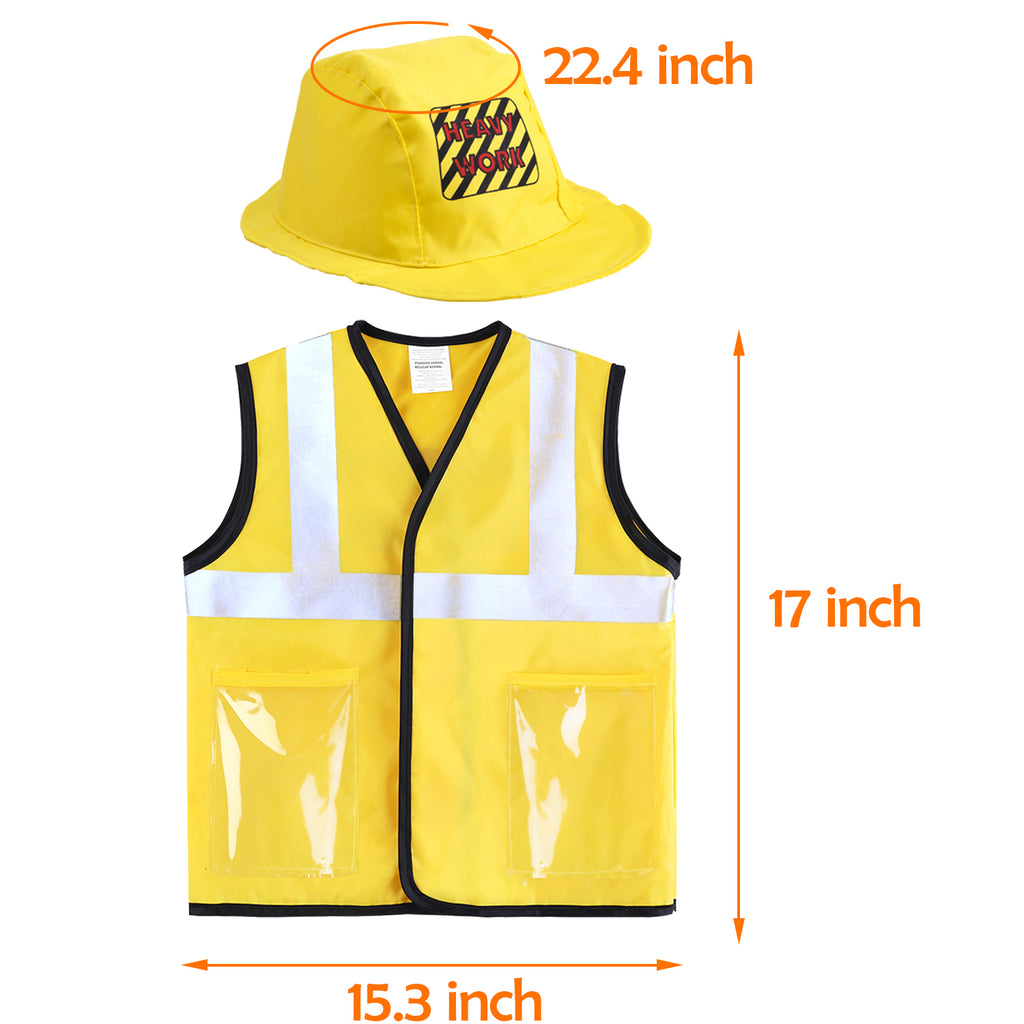 Construction Worker Costume Role Play Kit Set Educational Toy