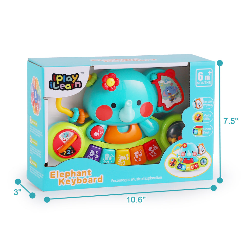 Baby Musical Elephant Toys Electronic Piano Keyboard