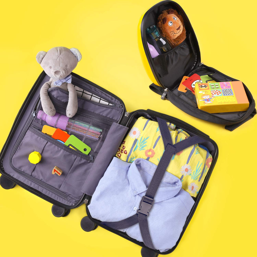 Kids Lion Luggage Set Carry on Suitcase with Backpack