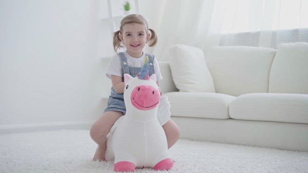 Unicorn Bouncy Bouncy Pals Horse Plush Hopping Animal Toys