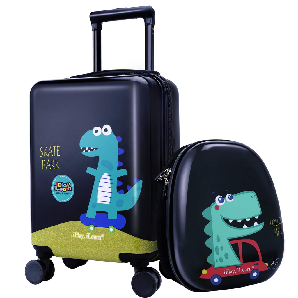 Dinosaur Kids Luggage Carry On Suitcase With Backpack
