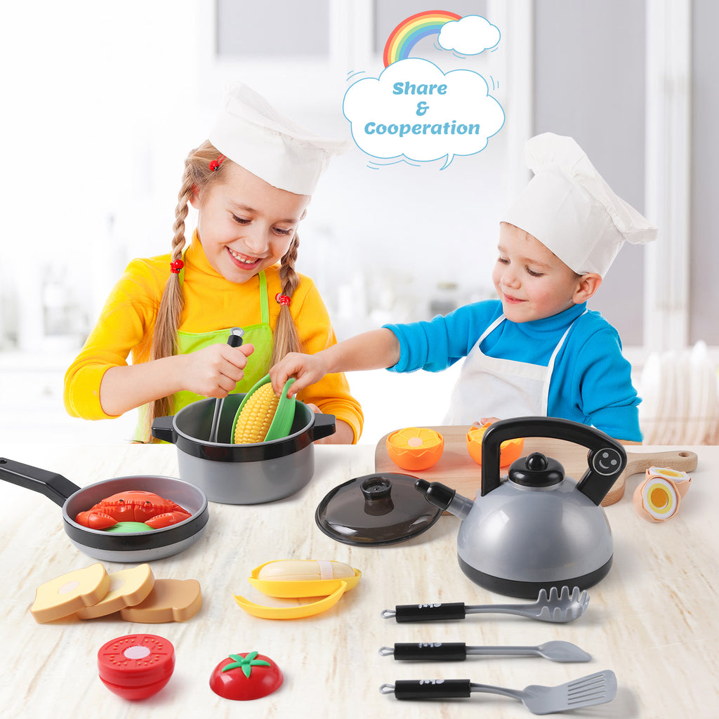 Kids Kitchen Pretend Play Toys Cooking Play Set