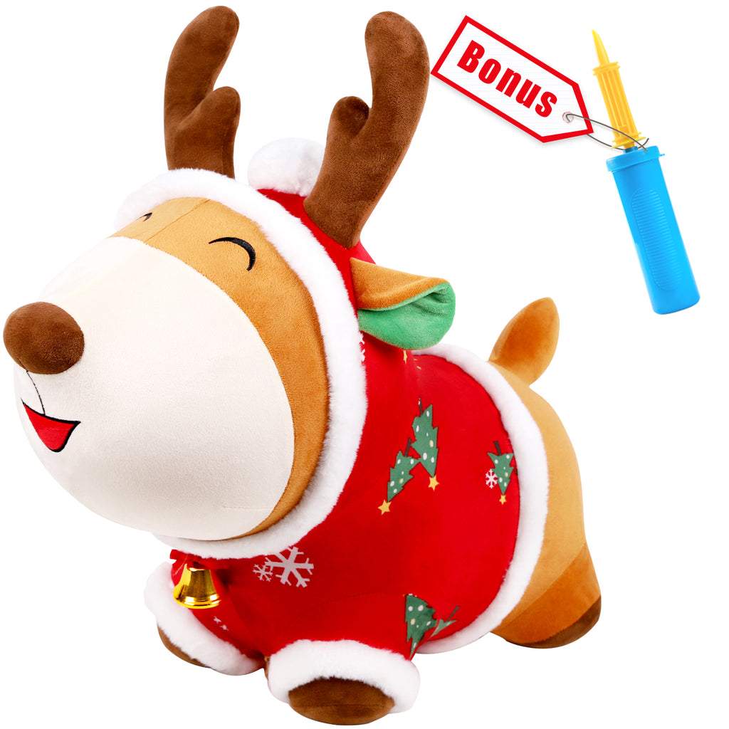 Bouncy Pals Reindeer Bouncy Horse Plush Ride on Toy