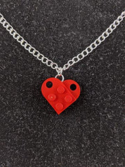 Brick Heart Couples Necklace