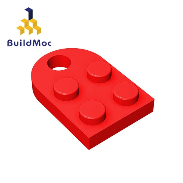 MOC 3176 Brick Heart Necklace/Key ring toys 2 x 2Heart-shaped Multicolor Compatible with LOGO Educational Toy Gift for Children