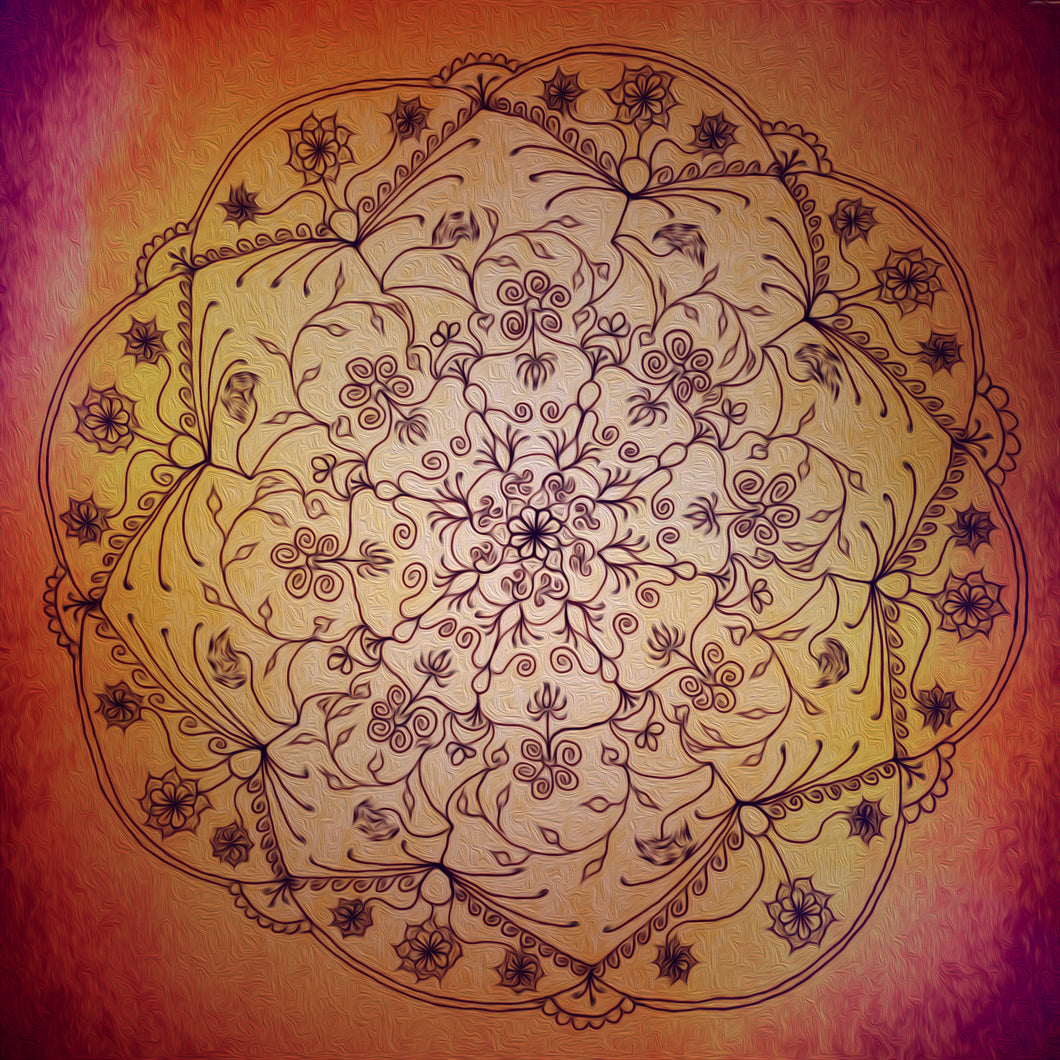 Harvest Moon Mandala (Dawn)