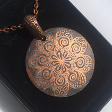 Load image into Gallery viewer, Hand-Etched Copper Pendant