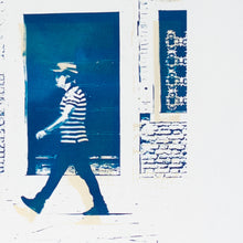 "Load image into Gallery viewer, ""Gondoliere"" - bicolor cyanotype 295 x 40 cm"