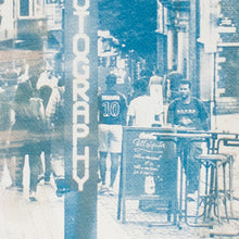 "Load image into Gallery viewer, ""Street"" - bi-color cyanotype 24 x 30 cm"