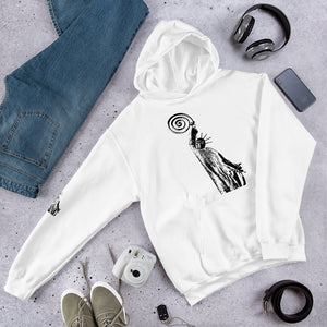 Hoodie with statement