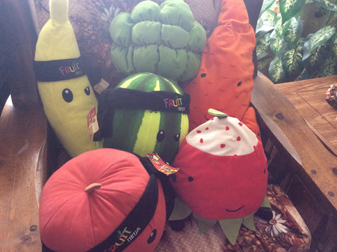 My plushie vegetable and fruit collection