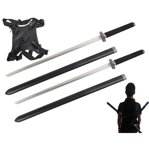 Fire and Steel - Double Ninjato Set with Backstrap