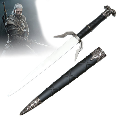 The Witcher - Geralt's Runed Silver Sword (Dagger Miniature)