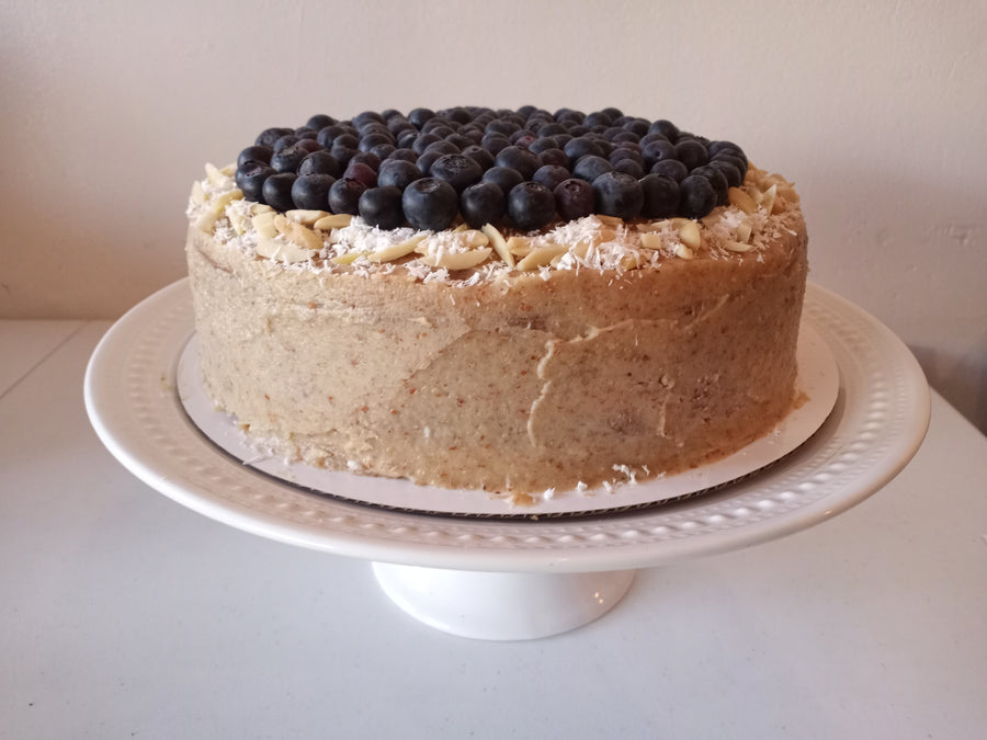 Vegan Blueberry Lemon Birthday Cake