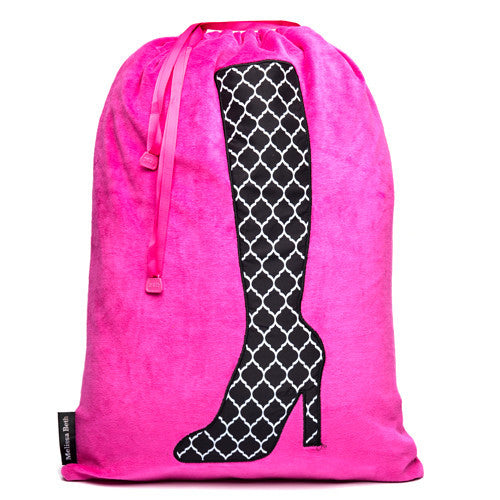 Bootylicious Boot Bag - Hot Pink/Trellis