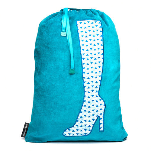 Bootylicious Boot Bag - Teal/Triangle