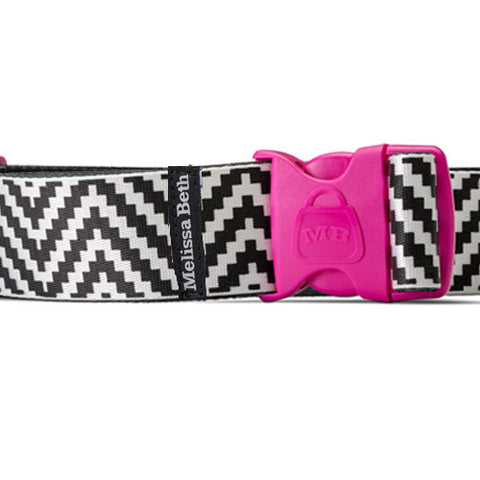 Belt Me Up Luggage Belt - Black ZigZag