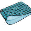 Pretty Printed Laptop Sleeves - Floral Teal and Black