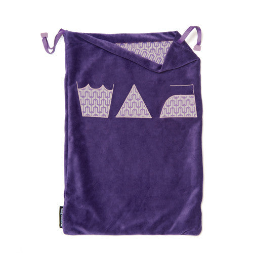 Wash, Dry and Repeat Laundry Bag - Kazoo Purple