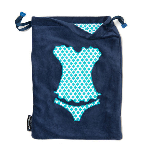 Ooh La La Lingerie Bag - Navy Blue