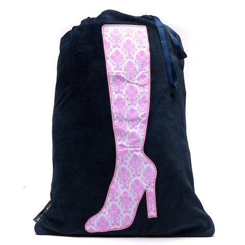 Bootylicious Boot Bag - Navy/Damask