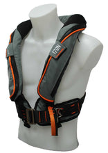 Load image into Gallery viewer, 170N BackTow inflatable PFD in Grey side angle