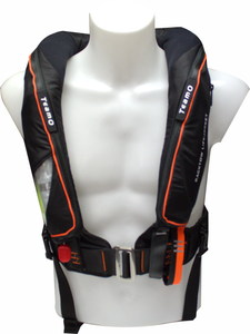 170N BackTow inflatable PFD in Black Front Shot