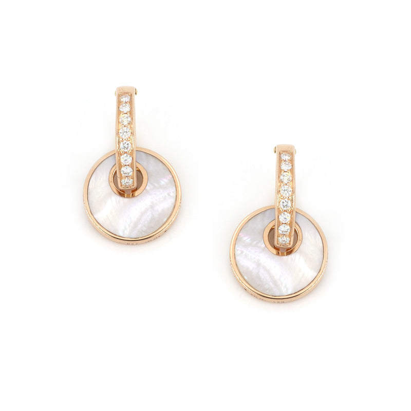 Giove  Earrings Mother of Pearl And Diamonds