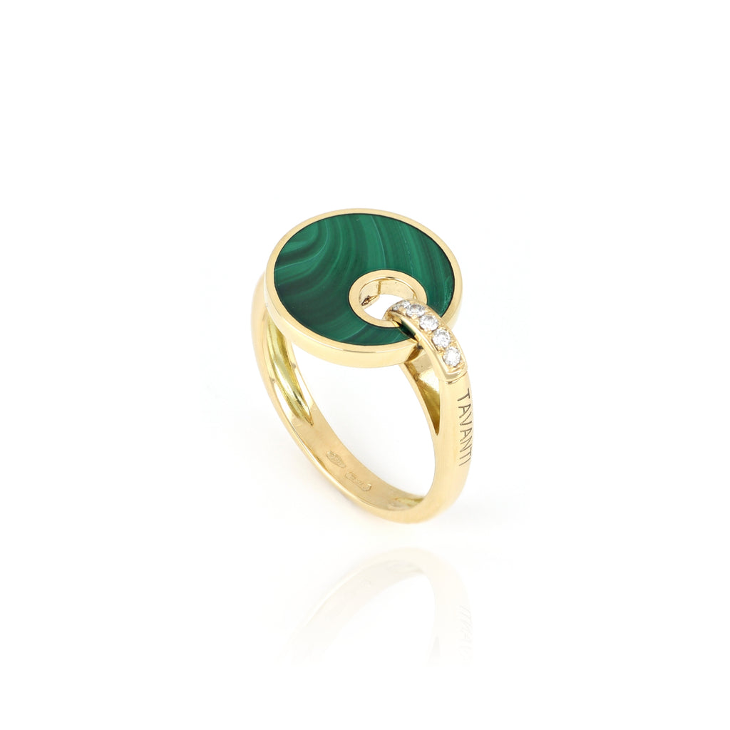 Video Anello Giove Malachite E Diamanti