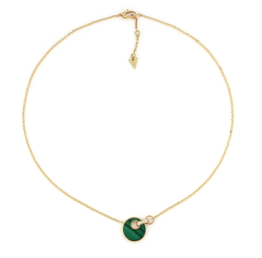 Video Collana Giove Malachite E Diamanti