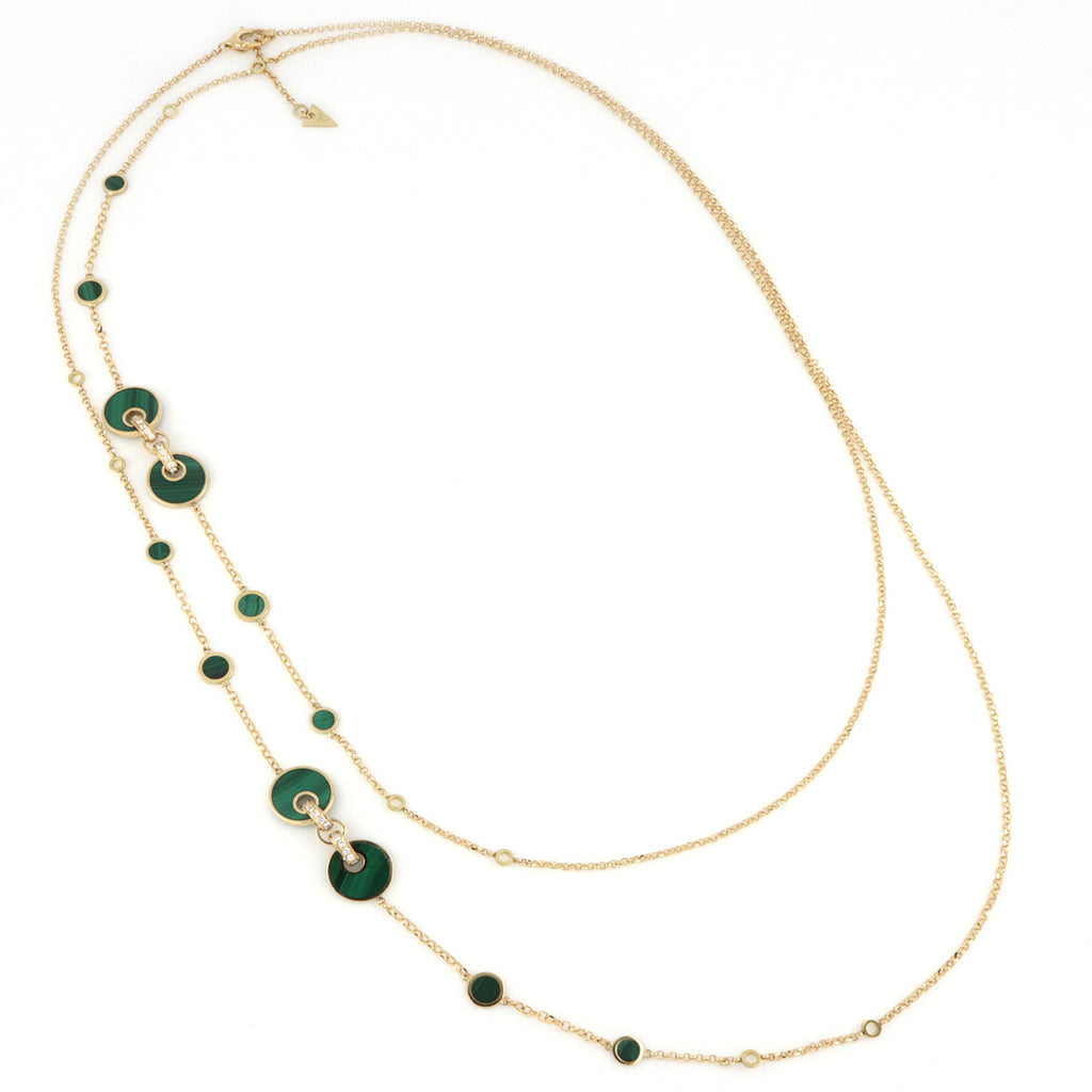Video Collana 120cm Giove Malachite E Diamanti