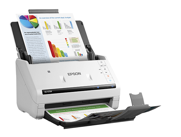 Epson® DS-575W Wireless Color Document Scanner