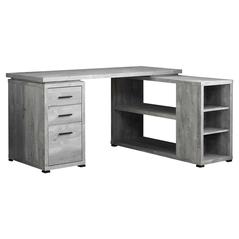"47'.25"" x 60"" x 29"" Grey, Particle Board, Hollow-Core - Computer Desk"