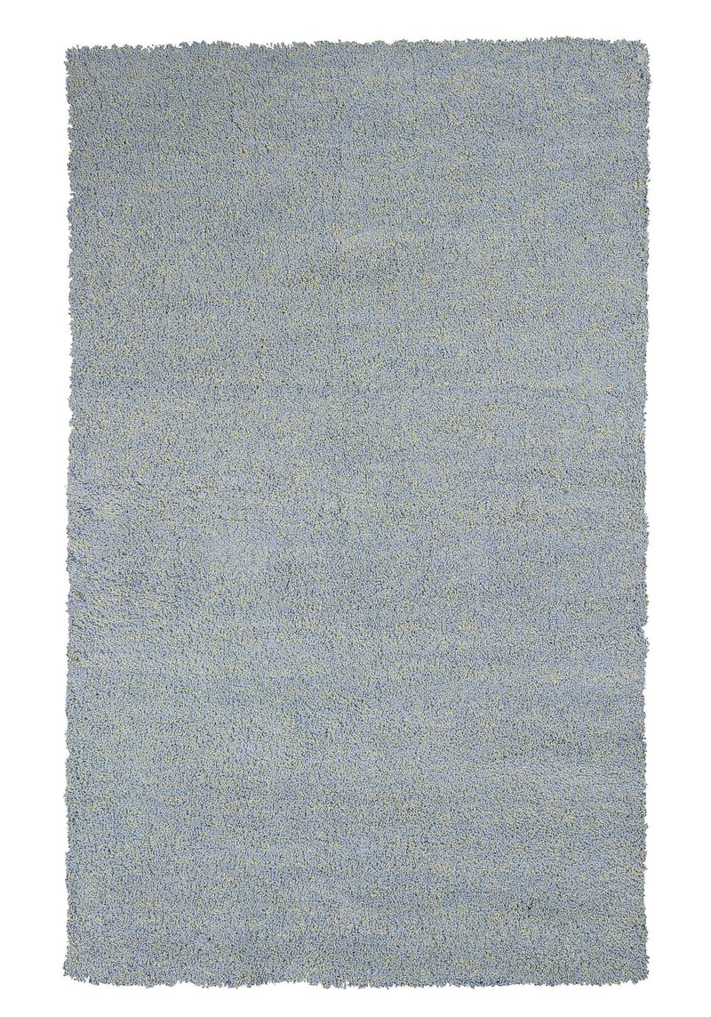 "7'6"" X 9'6"" Polyester Blue Heather Area Rug"