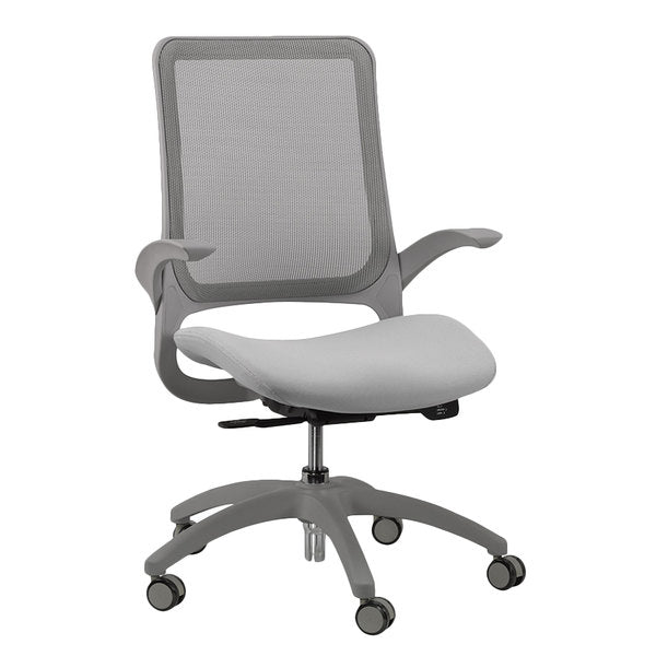 "24.4"" x 22.4"" x 38"" Grey Mesh / Fabric Office Chair"