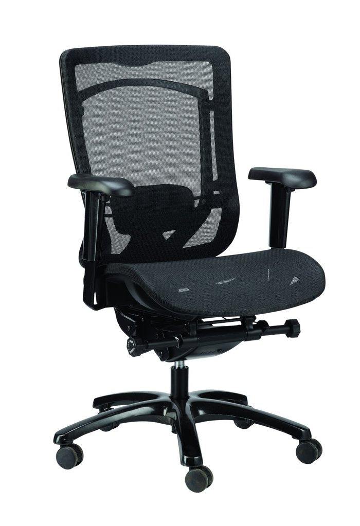 "26"" x 27.6"" x 40.9"" Black Mesh Chair"