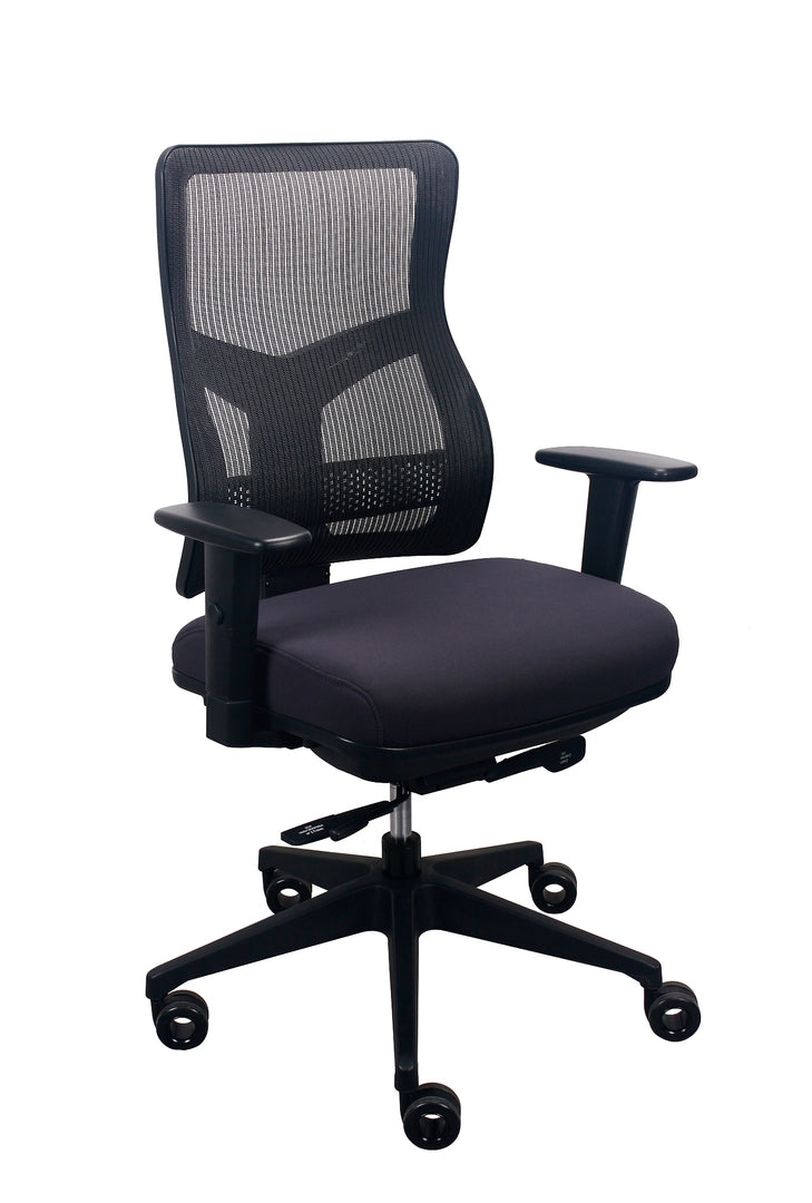 "26.5"" x 23"" x 36.69"" Charcoal Mesh/Fabric Chair"